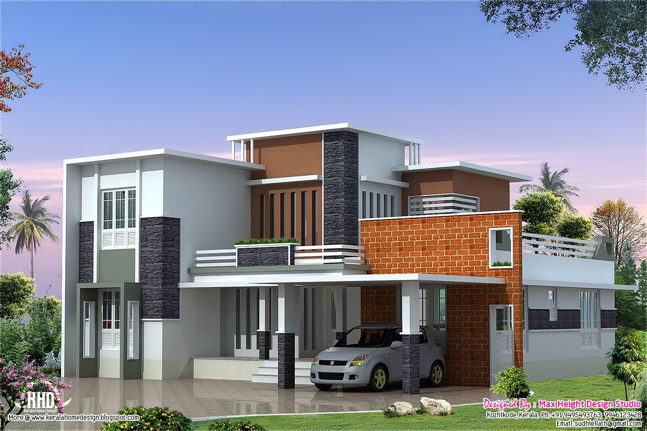 Nice Home Design 2400 Sq Ft Part - 11: Modern Contemporary Home 1949 Sq Ft Kerala Home Design Modern