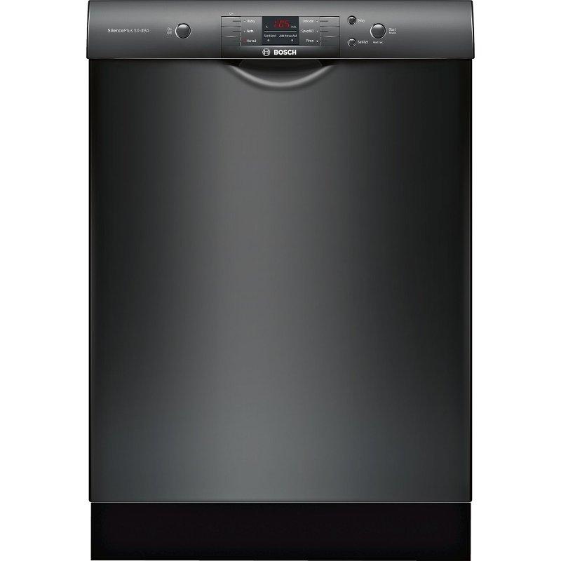 Bosch 100 Series Dishwasher Black Black Dishwasher Built In