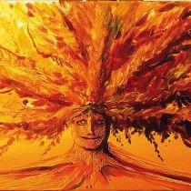 L'arbre de vie  acrylique 80 x 30 cm