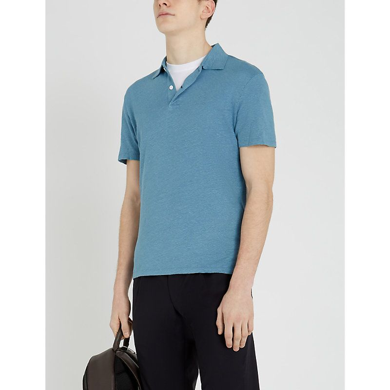 c700583d SANDRO KNITTED LINEN POLO SHIRT. #sandro #cloth | Sandro in 2019 ...