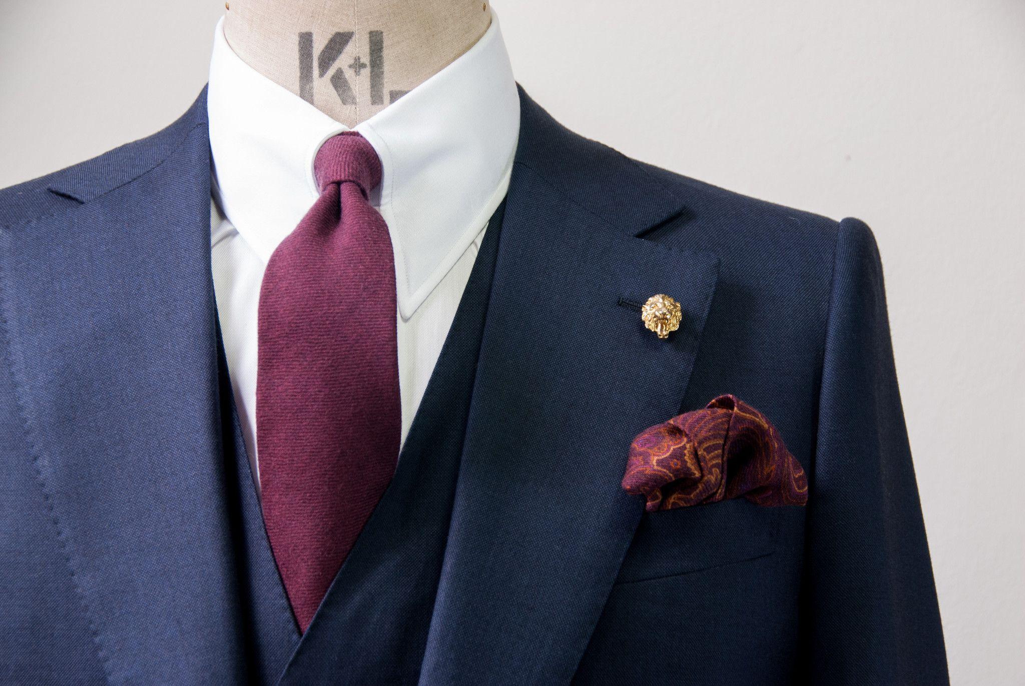 Light Orange Blue Paisley Textured Silk Tie Edward Sexton KmQIt