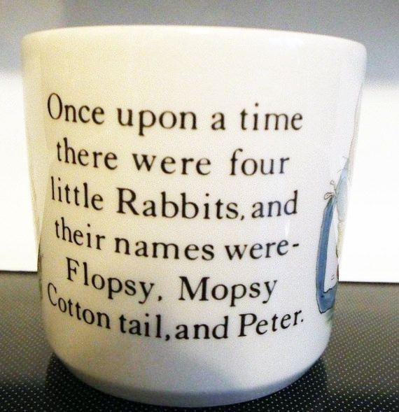 Vintage c. 1991 Wedgwood Peter Rabbit pair of by BuyfromGroovy