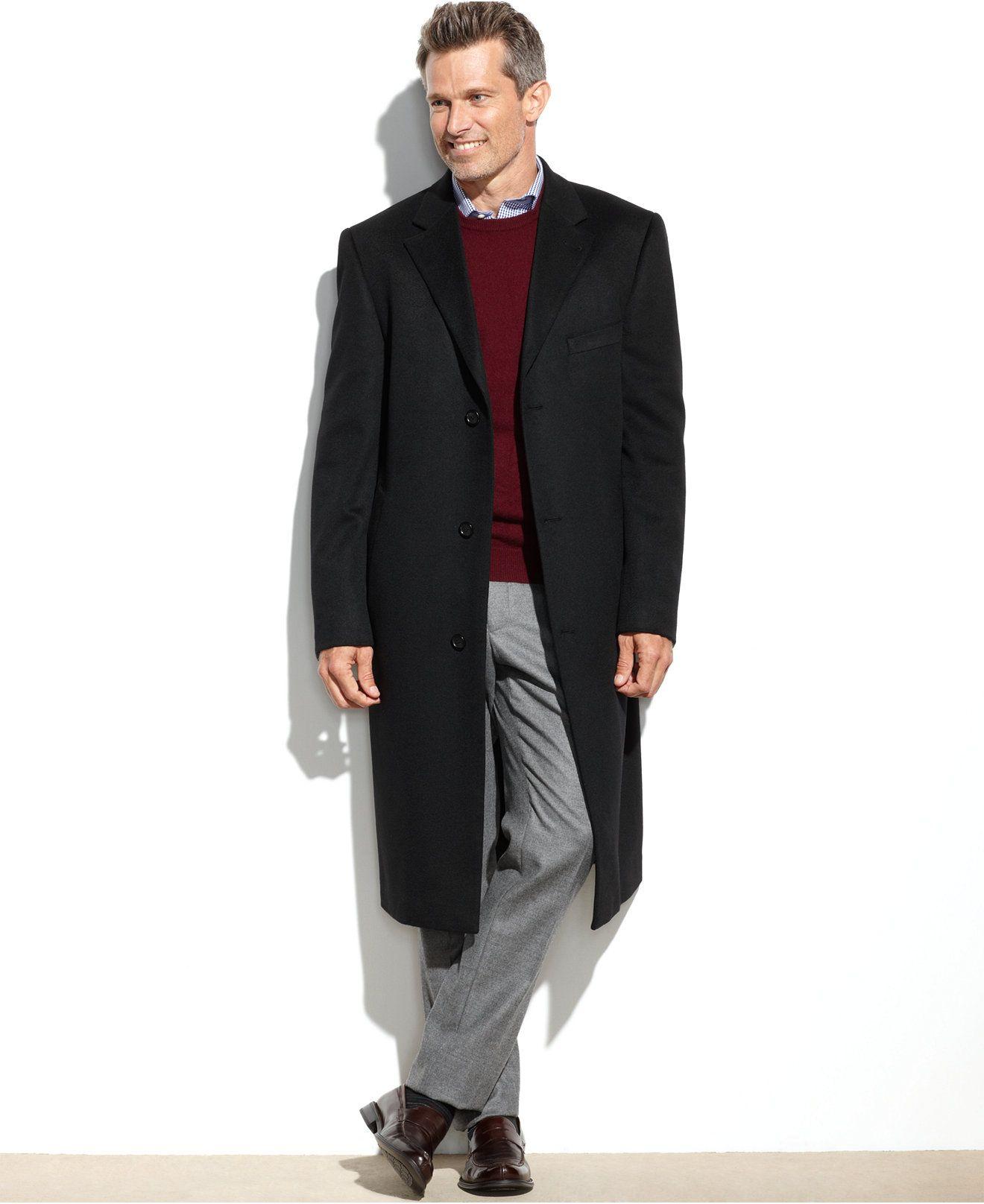 b00065bc565 Lauren Ralph Lauren 100% Cashmere Columbia Overcoat - Coats   Jackets - Men  - Macy s