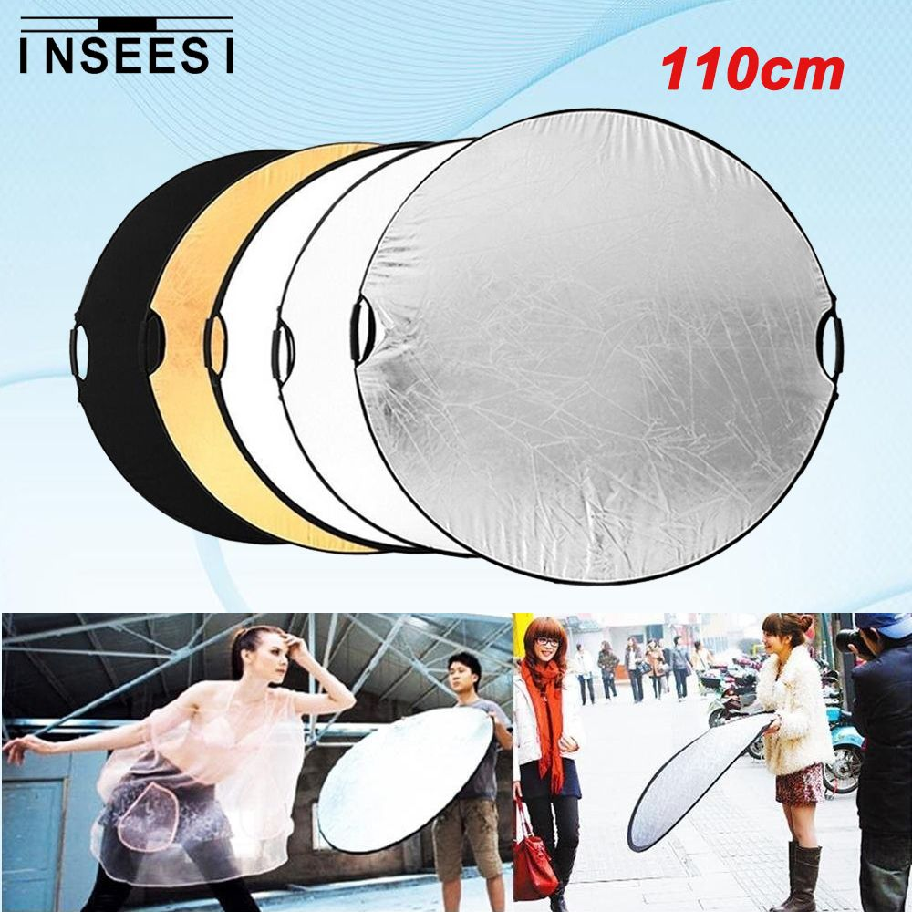 Click to buy 5 in 1 110cm 43 portable handle round collapsible cheap 5 in 1 buy quality light reflectors for photography directly from china light reflector suppliers 5 in 1 portable handle round collapsible multi disc aloadofball Choice Image