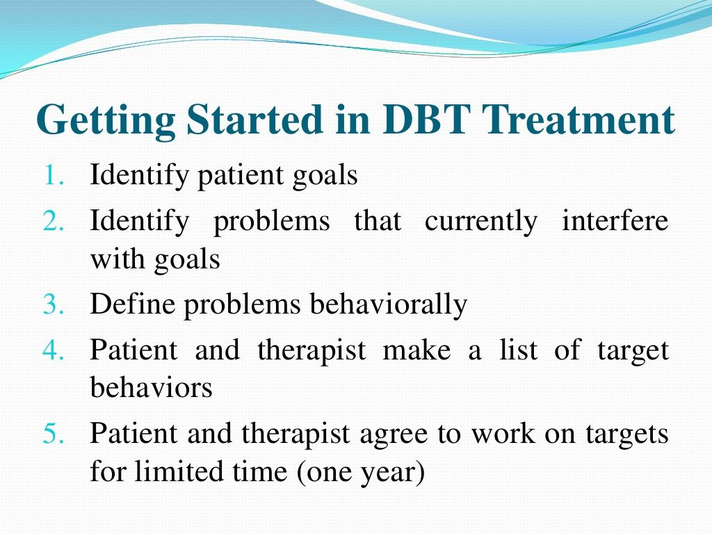 Getting Started In Dbt Treatment