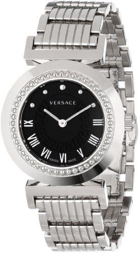 Versace Women's P5Q99D009 S099 Vanitas Stainless Steel Black Sunray Dial Watch