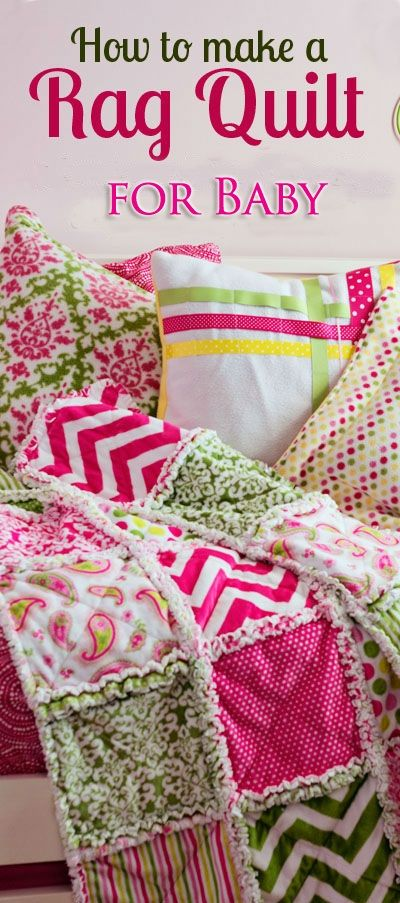 How to Make a DIY Flannel Rag Quilt for Baby