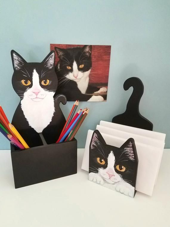 Custom Cat Pen Pencil Holder Cat Desk Accessory Cat Lover Gift Escritorio Lindo Accesorios De Escritorio Decoracion De Hogar Hecha A Mano