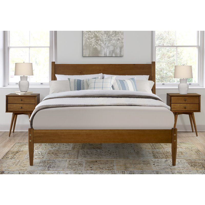 Lonna Platform Bed Mid Century Modern Bedroom Design Mid