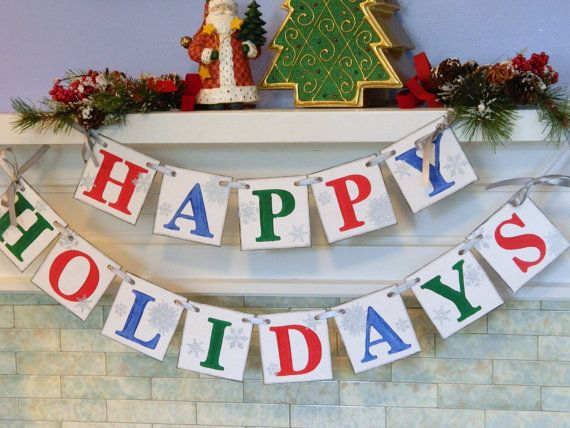 Holiday Banner/ holiday photo prop/ Happy by anyoccasionbanners, $26.00