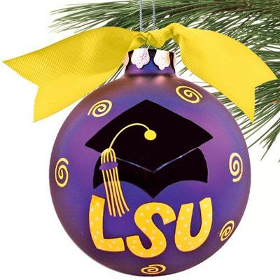 LSU Tigers Purple Graduation Cap Christmas Ornament! Check out all of the  LSU Tigers Holiday - Pin By LSU_whodat On LSU/SAINTS Pinterest Lsu, Lsu Tigers And