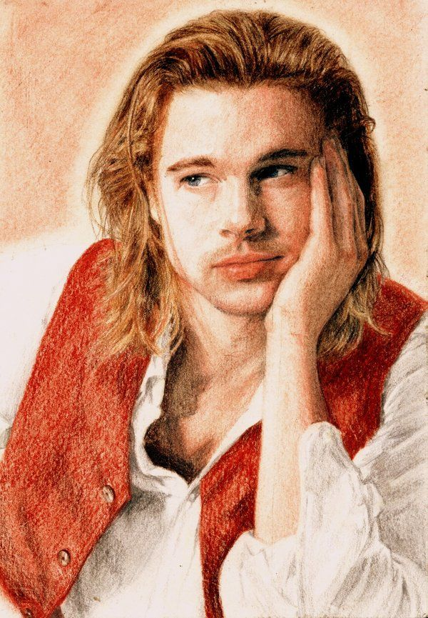 Brad Pitt by akaLilith.deviantart.com. Reminds me of the Red Vested One :D