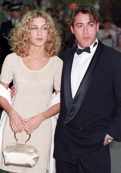 Sarah Jessica Parker and Robert Downey Jr in 1991