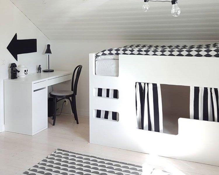 Kinderzimmer ideen ikea hochbett  IKEA KURA Hack - Deko-Ideen zum Hochbett-Klassiker | Kura hack ...