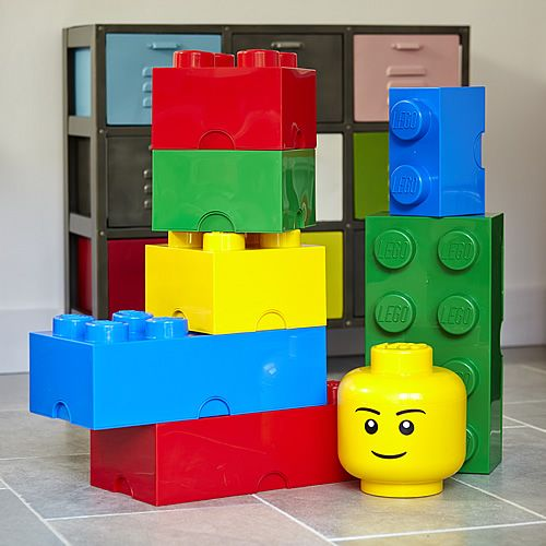 Giant LEGO Storage Blocks - Large Traditional Bundle at STORE. Boxed set of  Giant stackable LEGO storage bricks in traditional colours to save you sho.