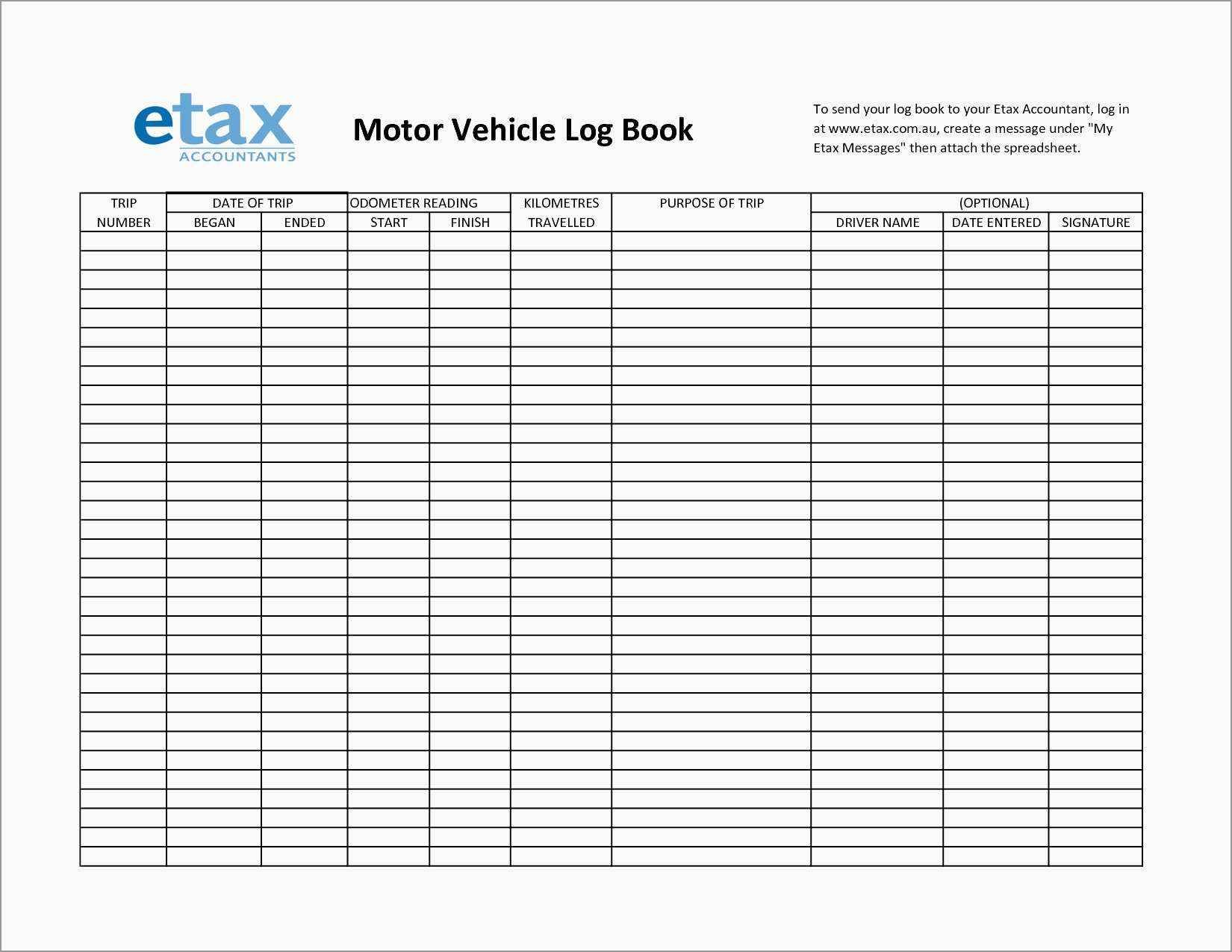 Drivers Daily Log Download Free And Excel Spreadsheet