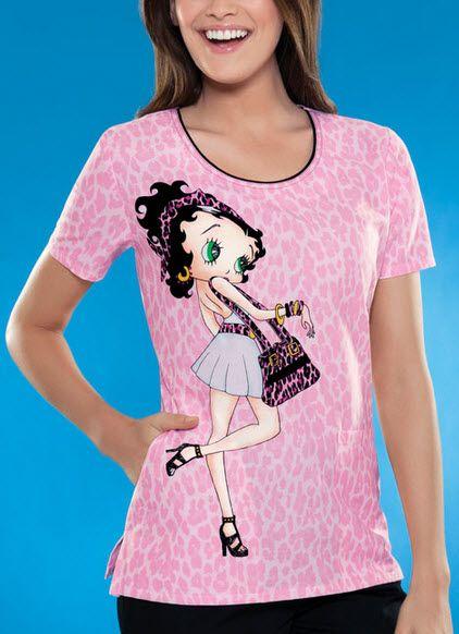 de2514227f4 Betty Boop Divalicious Scrub Top | Betty Boop Scrubs | Disney scrub ...