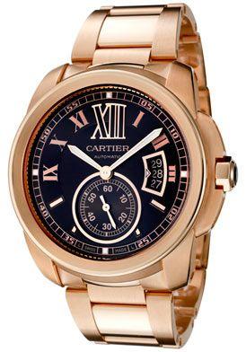 6ac8416bd49 Cartier W7100040 Men s Caliber De Cartier Automatic Brown Dial 18K Rose  Gold Watch  cartier