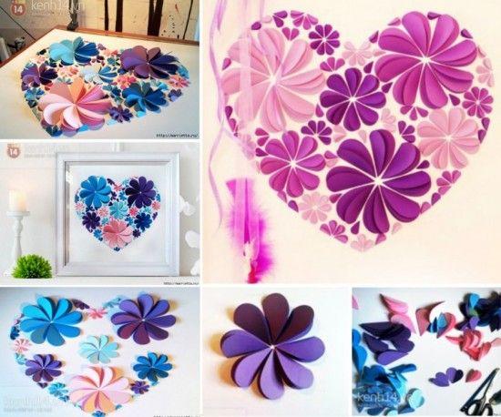 3d Paper Flower Wall Art Ideas Easy Video Instructions Crafts