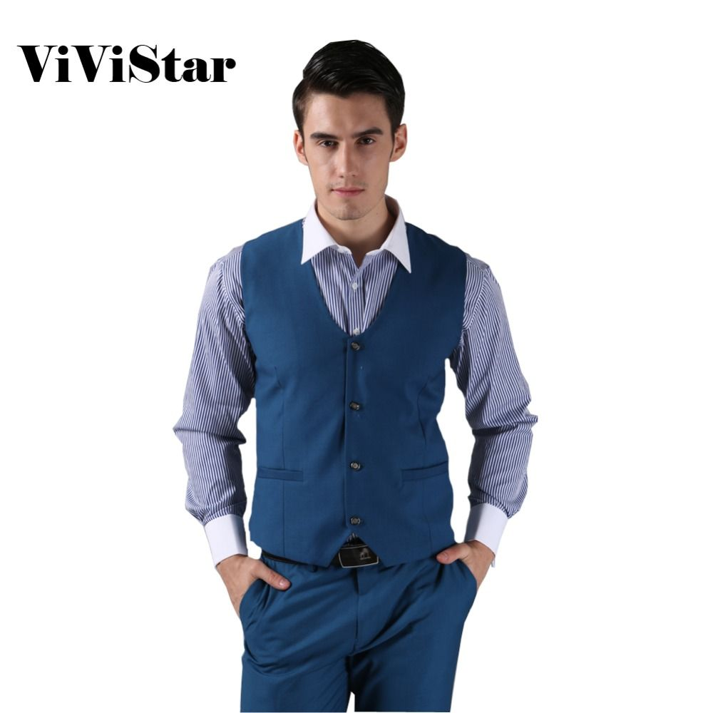 Click To Buy 2014 New Men Suit Vest Fashion Casual Wedding Formal