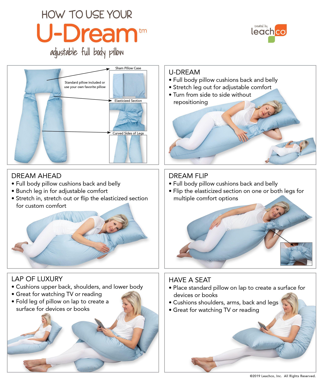 U Dream In 2020 Body Pillow Sewing Machine Basics Leg Pillow