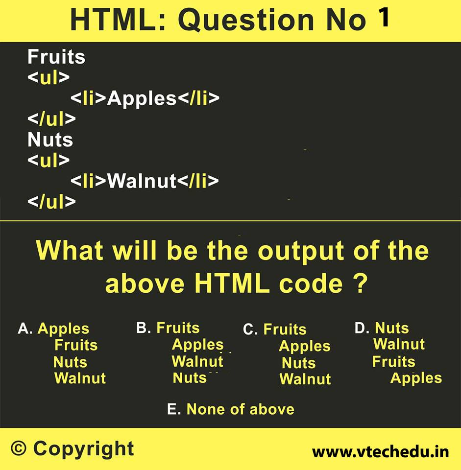 If you are genius then solve this HTML question Options A, B, C, D ...