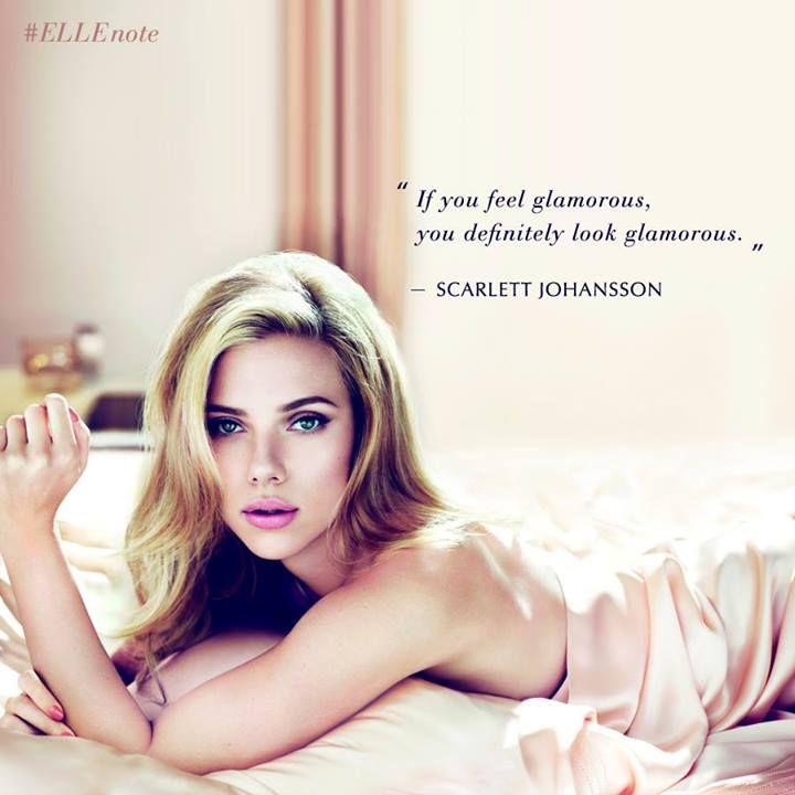 「當妳覺得自己是美麗的,妳看起來就會是最美的。」─史嘉莉喬韓森  #ellenote #scarlettjohansson #quote