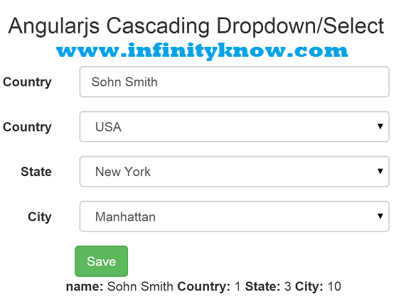 Angularjs Dynamic Dropdown Menu using json | Angular 6 Tutorials and