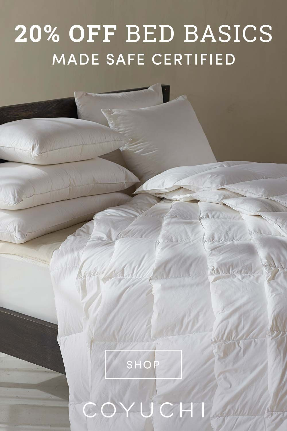 20 Off Made Safe Organic Bedding Essentials Down Pillows Duvet Inserts Non Toxic Organic Cotton Comforters And Organic M Bed Rustic Bedroom Furniture