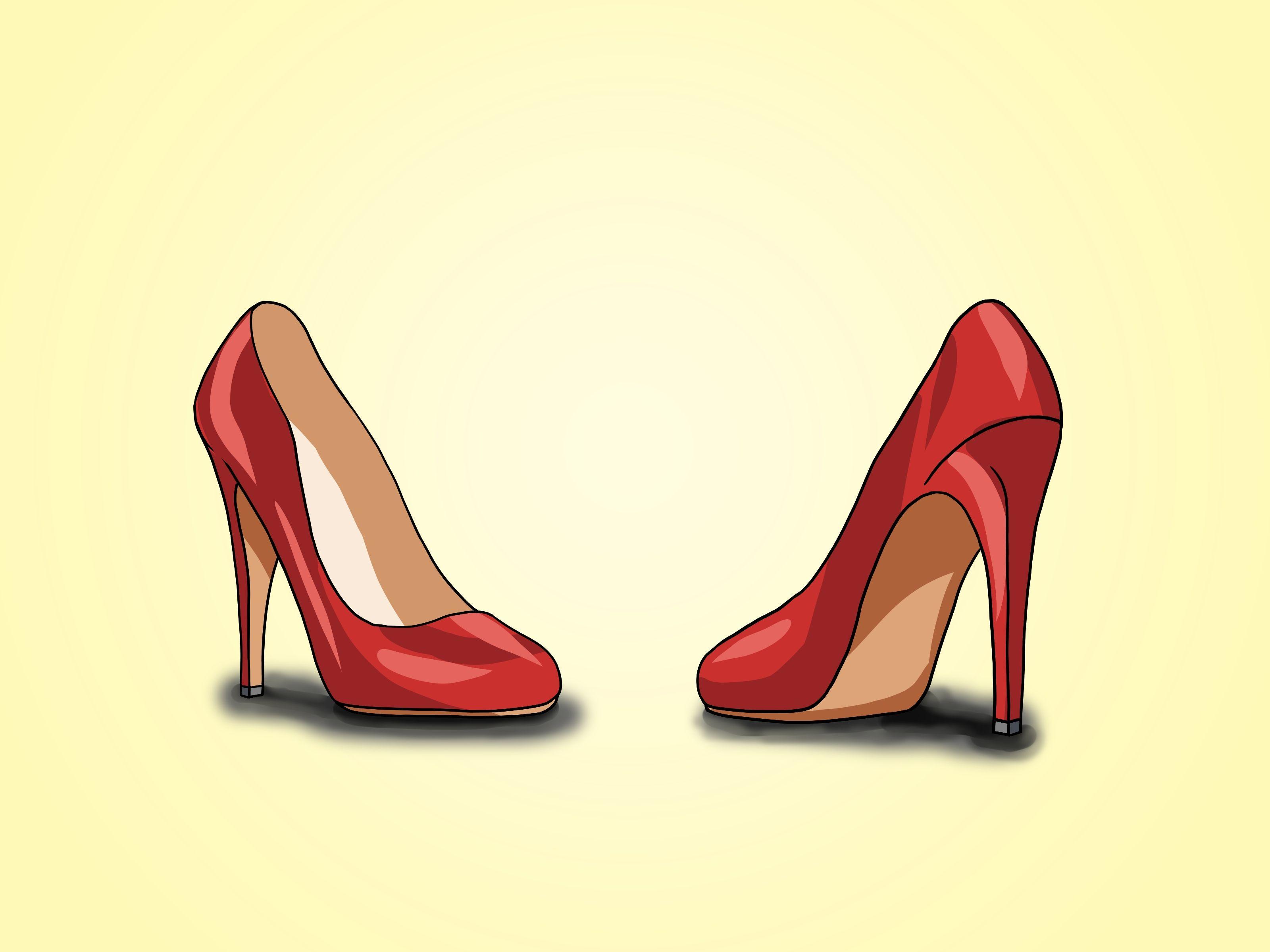 How to draw high heels.   Drawing high heels, Heels, Shoe ...