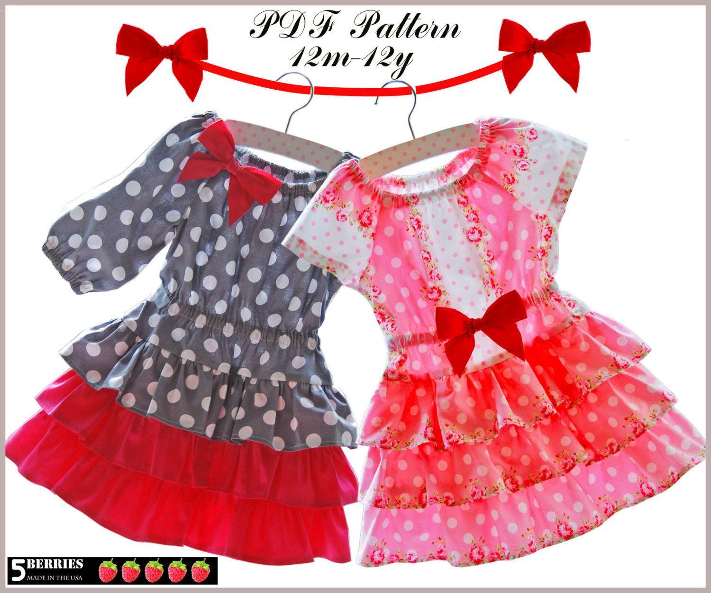 New girls dress patterns eva peasant dress pattern with twirl new girls dress patterns eva peasant dress pattern with twirl skirt sewing patterns jeuxipadfo Choice Image