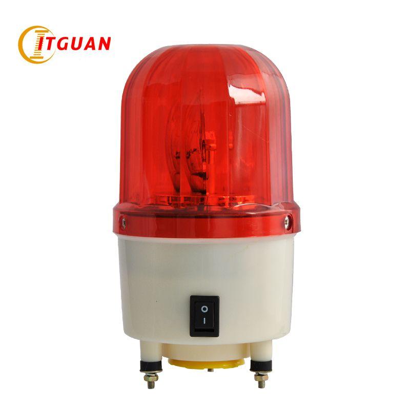 Tgsg 100 Dc12 24v Ac220 380v Led Rotary Warning Lamp With Buzzer Audible Visual Alarm Indicator Emergency Light Towe Emergency Lighting Warning Lights Buzzer