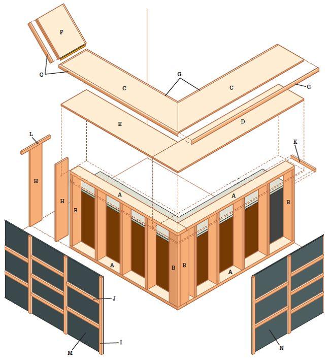Free Outdoor Bar Plans | DIY Woodworking