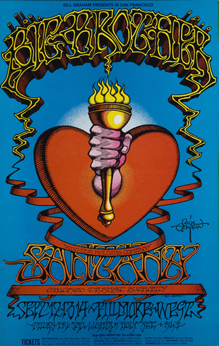 Poster Art: Heart and Torch/Santana by Rick Griffin, 1968