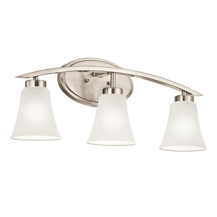 Portfolio Lyndsay 3 Light Nickel Transitional Vanity Light Bar