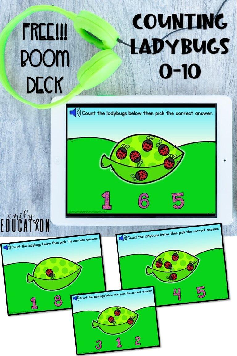 Free boom card deck counting 110 online preschool kids