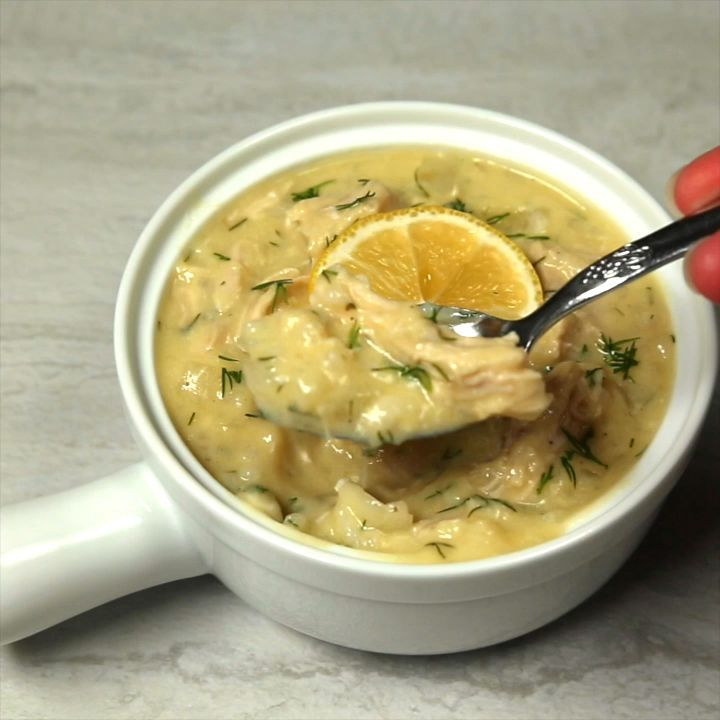 Greek Lemon Rice and Chicken Soup