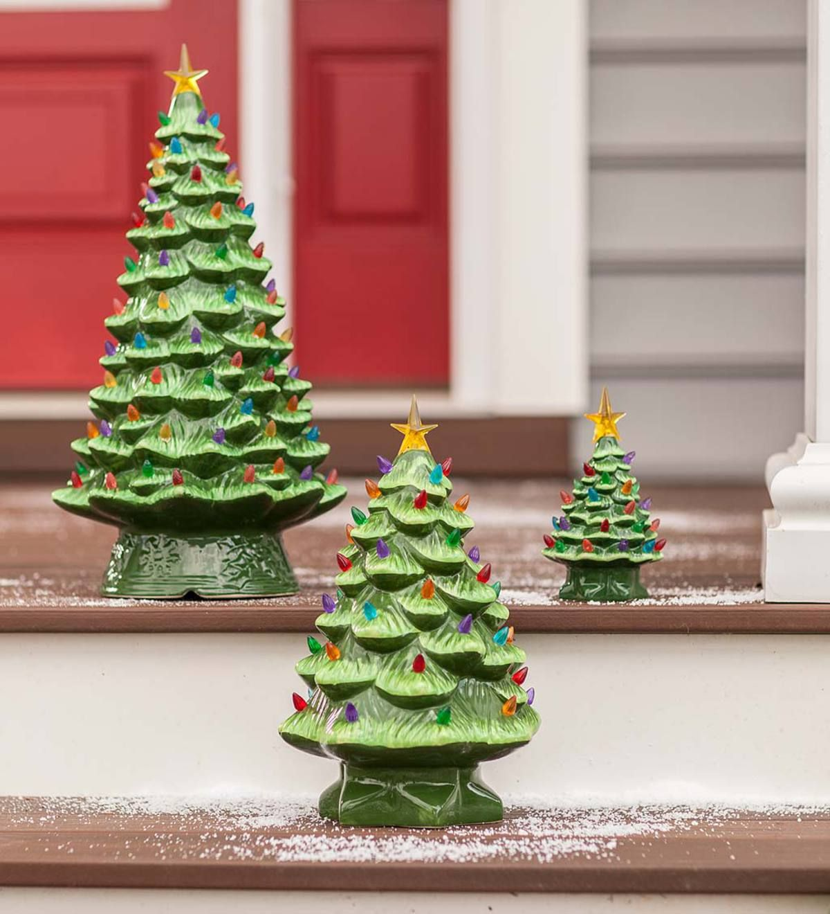 Just like you remember! Our Lighted Ceramic Christmas Tree is a ...