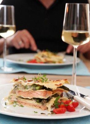 Salmon Lasagna with Parmesan Sauce