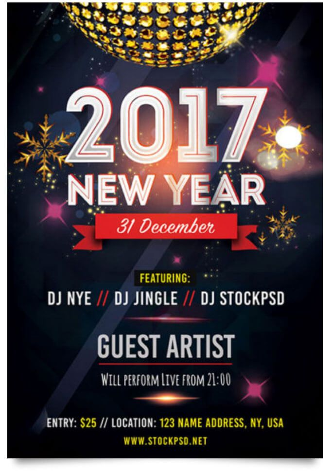 Next New Year Flyer Template  Design FlyerPoster