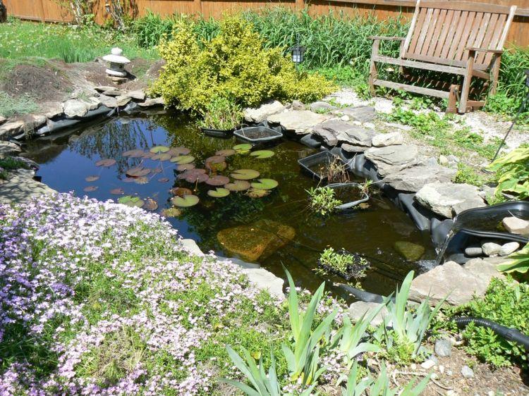 Bassin aquatique de jardin tapes de construction et photos d co photos - Construction bassin de jardin ...