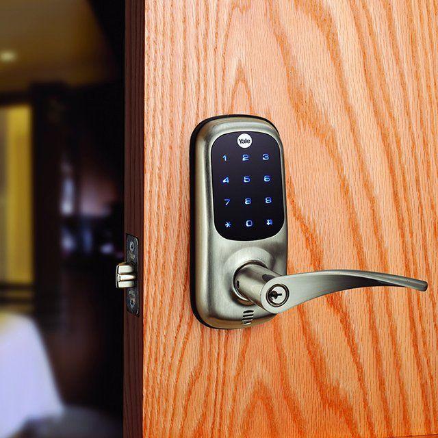 Yale Touchscreen Lever Door Lock 275 Smart Door Locks Keyless Entry Locks Biometric Door Lock