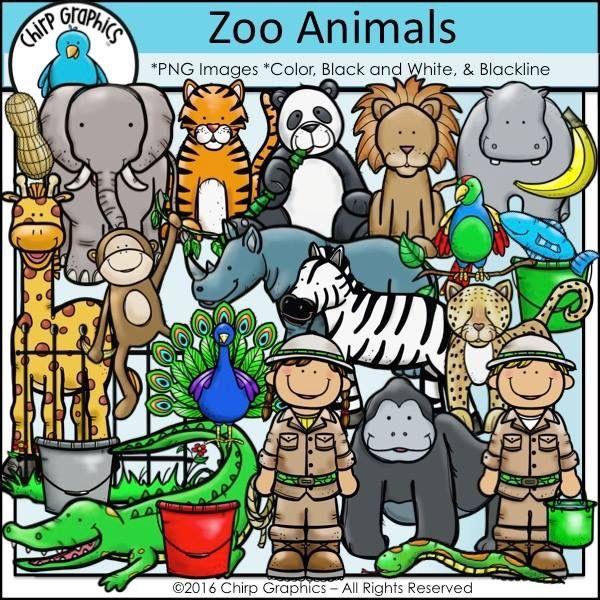 Cutest Zoo CLIPART EVER Zoo animals, Clip art, Art set