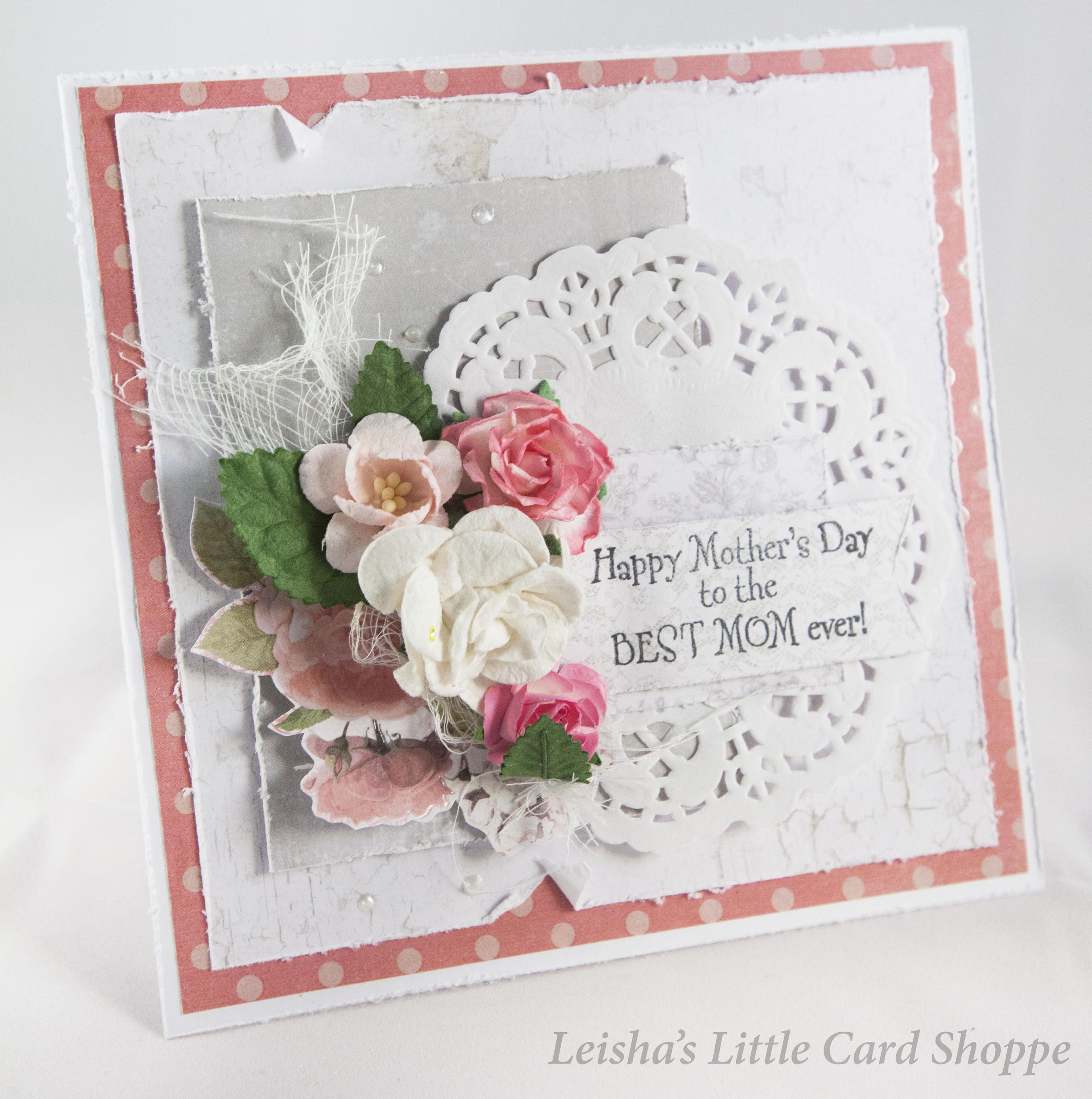 Handmade mothers day card etsy cards mothers day