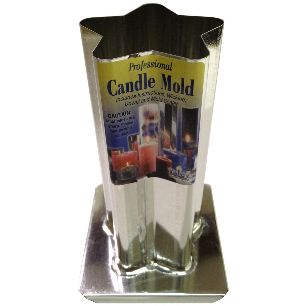 Professional metal candle moldpoint rounded star