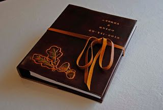 ArtesAnia: Funda de libro de firmas