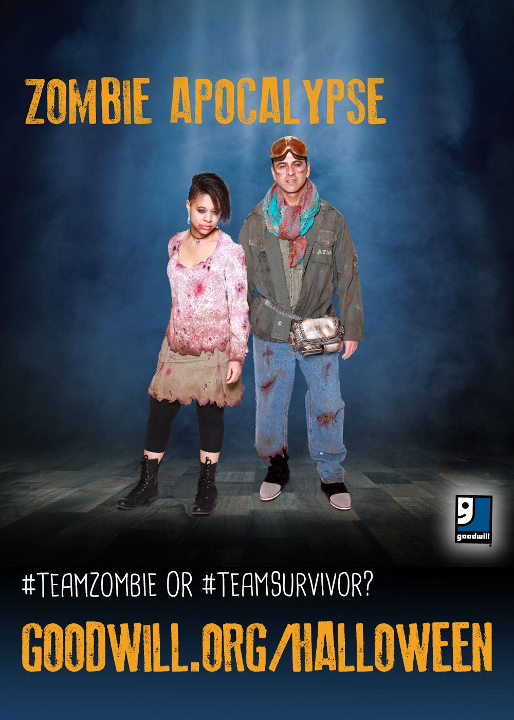 Zombie hoarde shuffling behind you? Don't trip! Just head to