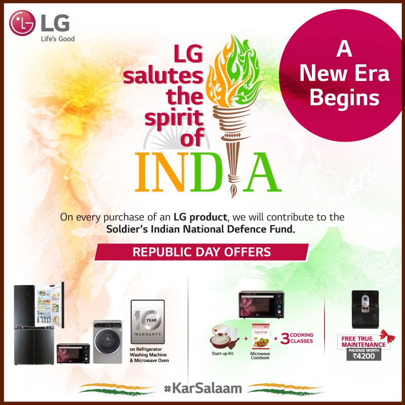 Saluting the spirit of the new India with LG cashless