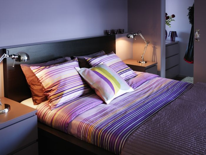 2014 Pantone Color of the Year - Radiant Orchid - Try this at home! Purple PALMLILJA bedding and dark brown MALM furniture make an attractive pair.