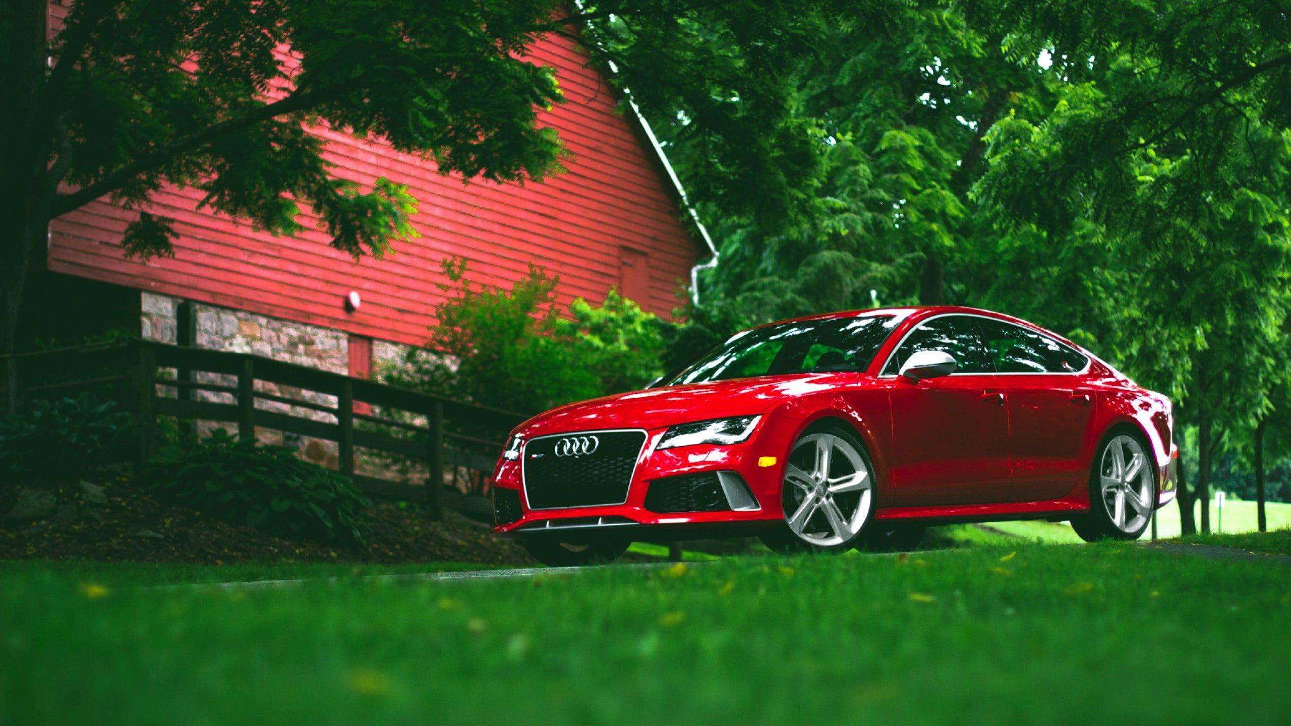Audi Rs7 Car Front Angle View 2k Wallpaper Hdwallpaper Desktop Red Audi Audi Rs7 Audi